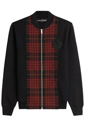 Alexander Mcqueen Zipped Wool Cardigan Multicolor