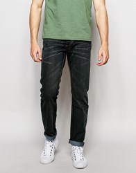 Bellfield Slim Fit Washed Black Jeans Blue