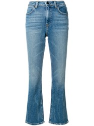 Alexander Wang T By Classic Cropped Denim Jeans Blue