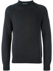 Dolce And Gabbana Rolled Neck Jumper Grey