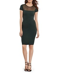 Ralph Lauren Illusion Yoke Dress Forest