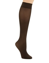 Hue Revitalizing Opaque Knee Hi Socks Espresso