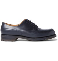J.M. Weston Leather Derby Shoes Storm Blue
