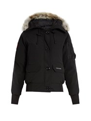 Canada Goose Chilliwack Fur Trimmed Down Bomber Jacket Black