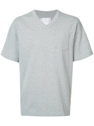 Sacai Patch Pocket T Shirt Men Cotton 4 Grey