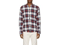 Greg Lauren Plaid Cotton Flannel Studio Shirt Multi