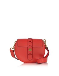 Coccinelle Carousel Mini Red Leather Crossbody Bag