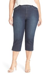 Plus Size Women's Nydj 'Ariel' Embellished Cuff Stretch Crop Jeans