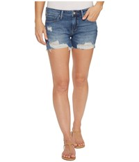 Mavi Jeans Ripped Vintage Emily Shorts In Medium Blue Medium Blue Women's Shorts