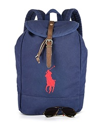Ralph Lauren Canvas Backpack Navy Red