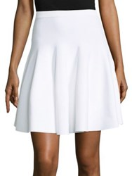 Carven Flared Mini Skirt White