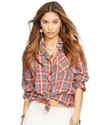 Denim And Supply Ralph Lauren Button Down Flannel Shirt Carver Plaid