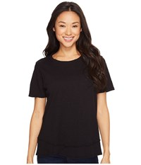 Dylan By True Grit Crew Neck Short Sleeve Tee Black Women's Short Sleeve Pullover
