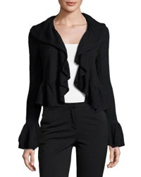 Nanette Nanette Lepore Ruffle Trim Long Sleeve Shrug Black