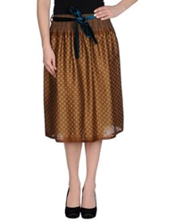 So Nice 3 4 Length Skirts Brown