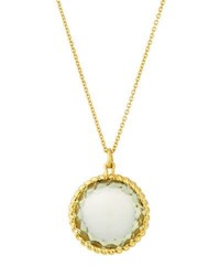 Roberto Coin Ipanema 18K Small Round Lemon Quartz Pendant Necklace