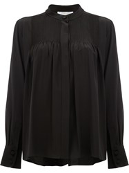Chloe Pintuck Tailored Blouse Black