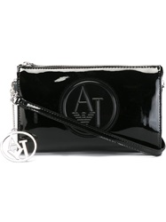 Armani Jeans Embossed Logo Clutch Black