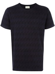 Oliver Spencer 'Conduit Space Dyed' T Shirt Blue