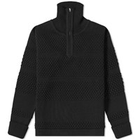 S.N.S. Herning Fisherman Half Zip Knit Black