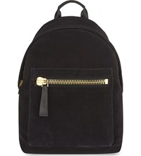 Tom Ford Buckley Suede Backpack Black