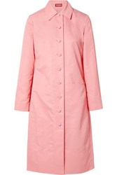 Staud Maura Shell Trench Coat Pink