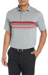 Bobby Jones Xh20 Gable Stripe Jersey Polo Graphite