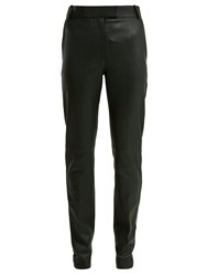 Joseph Reeve Stretch Leather Trousers Green