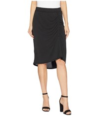 Splendid Sandwash Jersey Slit Skirt Black