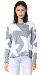 Wildfox Couture Lucky Stars Phantom Sweater Flecked Vision Blue