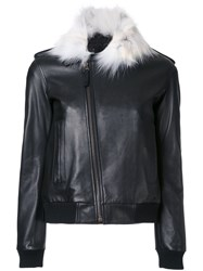 Anthony Vaccarello Contrast Collar Jacket Black