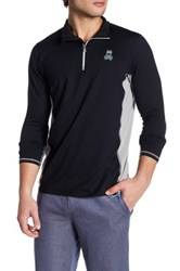 Psycho Bunny Lounge Quarter Zip Performance Pullover Black