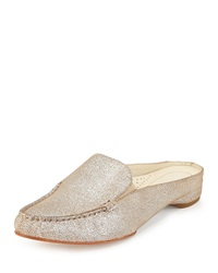Breva Metallic Mule Slide Natural Silver Donald J Pliner