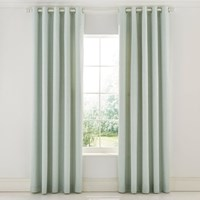Sanderson Protea Flower Sea Pink Lined Curtains Green