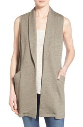 Women's Pleione Long French Terry Vest Olive Tarmac