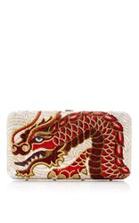 Judith Leiber Couture Ridged Red Dragon Clutch