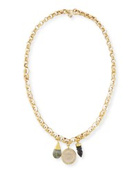 Ashley Pittman Mpenzi Long Triple Charm Necklace Multi
