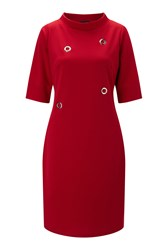 James Lakeland Eyelet Dress Red
