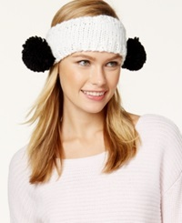David And Young Pom Sides Headwrap White Black Pom