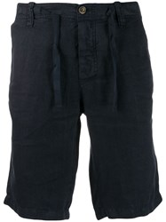 Mc2 Saint Barth Tie Fastening Shorts Blue