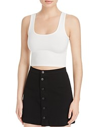 Groceries Apparel Fitted Crop Top White