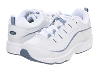 Easy Spirit Romy White Medium Blue Leather Women's Lace Up Casual Shoes