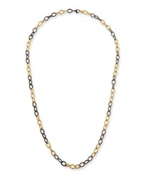 Margo Morrison Two Tone Chain Link Necklace. 36 L Gold