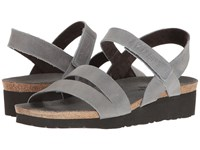 Naot Footwear Kayla Vintage Slate Leather Women's Sandals Gray
