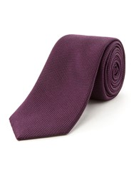 Racing Green Dawson Semi Plain Tie Purple