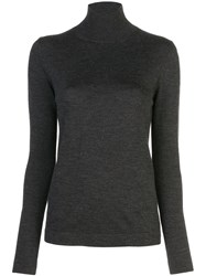 Oscar De La Renta Turtleneck Jumper Grey