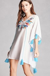 Forever 21 America And Beyond Tassel Tunic White