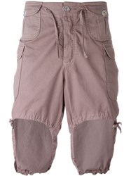 Telfar Cargo Shorts Pink And Purple