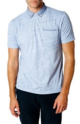 Good Man Brand Trim Fit Polo Shirt Blue Heather