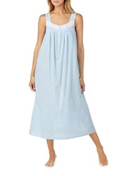 Eileen West Swiss Dot Cotton Nightgown Blue